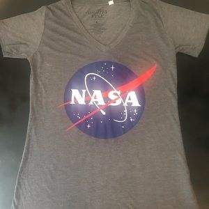 Mighty Fine NASA v neck T-shirt
